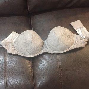 Victoria's Secret Intimates & Sleepwear - Gray lace VS strapless bra